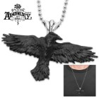 """Nevermore"" Black Raven Necklace"