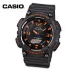 Casio Ana-Digi Solar Watch Matte Grey/Orange