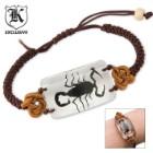Genuine Scorpion Bracelet Clear Lucite Pendant