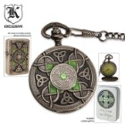 Celtic Pocket Watch With Lighter