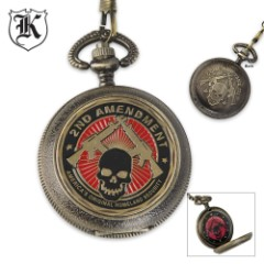 Second Amendment Homeland Security Pocket Watch With Chain
