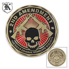 Second Amendment Homeland Security Commemorative Challenge Coin
