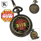 Forever Brothers Vietnam Veteran Pocket Watch With Chain BOGO
