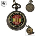 Forever Brothers Vietnam Veteran Pocket Watch With Chain