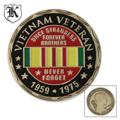 Forever Brothers Vietnam Veteran Commemorative Challenge Coin
