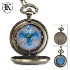 Masonic Double-Headed Eagle Pocket Watch