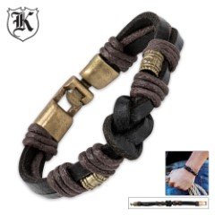 Metal Alloy Genuine Leather Bracelet