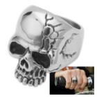 Cracked Dead-Eyed Skull Ring