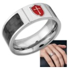 Armor of God Stainless Steel / Carbon Fiber Ring