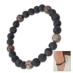 Lava Stone And Natural Stone Bracelet