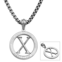 X First Class Pendant on Chain - Stainless Steel Necklace