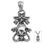 Medusa Kraken Pendant on Chain - Stainless Steel Necklace
