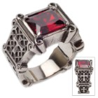 Twisted Roots Crusaders Cross Heart Stone Ring