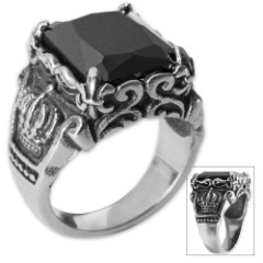 Twisted Roots Royal Black Stone Ring