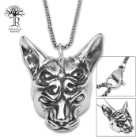 Alien Cat Pendant On Chain - Stainless Steel Necklace