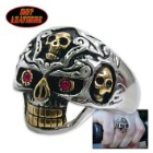 Hot Leathers Holy Toledo Skull Ring Silver 10