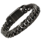 Men's Gunmetal-Finished Stainless Steel Chain Bracelet