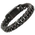 Men's Gunmetal-Finished Stainless Steel Chain Bracelet