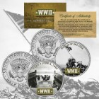 World War II Iwo Jima And D-Day JFK Coin Set