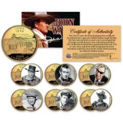 John Wayne Colorized 24K Gold Plated – Set Of Six