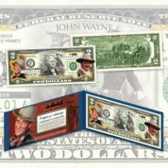 John Wayne The Duke Two-Dollar Bill