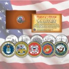 US Armed Forces Branch Emblems 5 Statehood Quarters Set