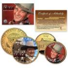 John Wayne 24K Gold-Plated Quarter and Half Dollar 2-Coin Set