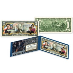 Merrick Mint JFK Centennial Celebration First Couple Colorized 2 Bill