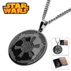 """Star Wars Galactic Empire Necklace 22"""" Chain"""