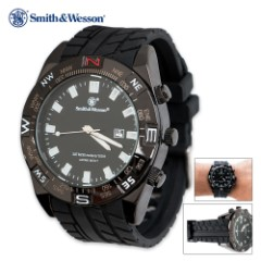 Smith & Wesson Waterproof Tactical Watch - Black