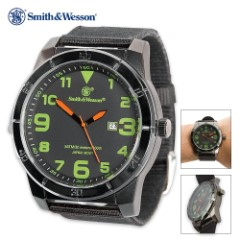 Smith And Wesson Commando Watch - Canvas Strap