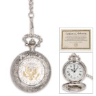 Presidential Seal JFK Half Dollar Pocket Watch