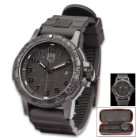 Luminox Sea Turtle Navy Seal Black Watch - Carbon Compound Case, Rubber Strap, Water-Resistant, Swiss Quartz Movement