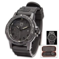 Luminox Sea Turtle Navy Seal Black Watch – Carbon Compound Case, Rubber Strap, Water-Resistant, Swiss Quartz Movement