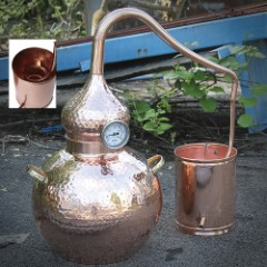 Five-Gallon Soldered Alembic Copper Moonshine Still