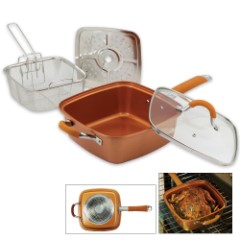 Square Copper All-In-One Pan