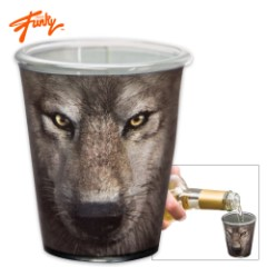 The Mountain Wolf Shot Glass – 2 Oz.