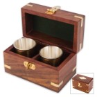 Rum Cups And Wooden Box Set
