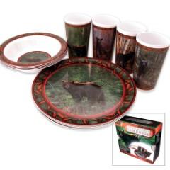 Wild Wings Bear Tableware Set – 12-Piece