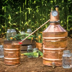 Stampede Stills Six-Gallon Lyne Master With Worm - Handcrafted, Revere Copper Construction, Copper Rivets, Made In The USA