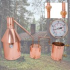 10 Gallon Large Copper Moonshine Still With Upgrades - Handmade in USA