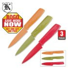 3-Pk. Colored Blades Paring Knife Set BOGO