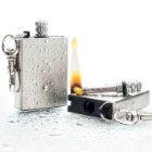 Waterproof Permanent Match Survival Lighter Keychain – Stainless Steel Case, Flint Match, Ferro Rod, Thousands Of Strikes