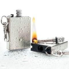 Permanent Match Lighter Key Chain