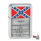 Confederate Rebel Flag Heritage Not Hate CSA Windproof Lighter