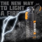 BugOut Survival Plasma Beam Lighter With Flashlight - Single Arc, Charges With USB Cord, Water-Resistant, Lanyard Cord