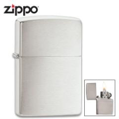 Zippo Brushed Chrome Lighter