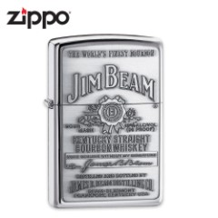 Zippo Jim Beam Emblem High Polish Chrome Lighter