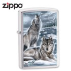 Zippo Howling Wolves Brushed Chrome Lighter