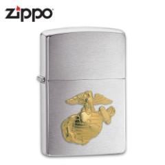 Zippo Marines Brushed Chrome Lighter